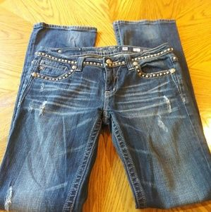 Miss Me Jeans size 30 blinged out studded